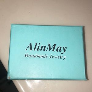 "Alin May ""M"" necklace"